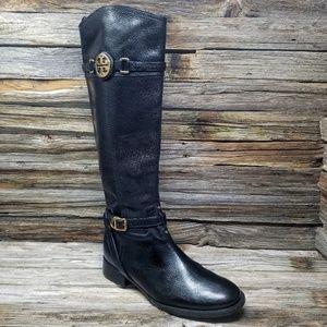 Tori Burch Calista Black Leather Over The Knee Boo